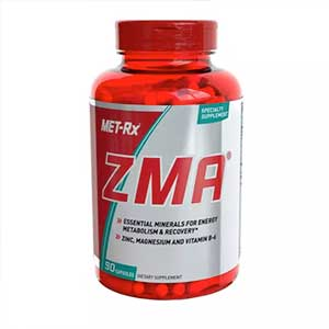 MET-Rx ZMA Supplement, Supports Muscle Recovery, 90 Capsules, USA