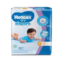 Huggies Dry Diapers (M 5-10kg) 72 Pcs