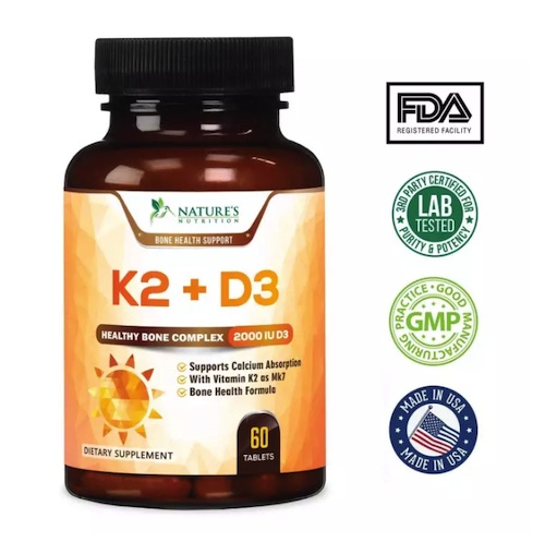 Vitamin K2 with D3 Supplement