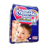 MamyPoko Pants  diaper M(7-12kg.) 56pcs.-India