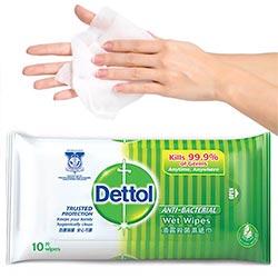 Dettol Antibacterial Wet Wipes Single Pack