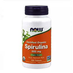 Now Foods Organic Spirulina, high in Protein & Vitamins, managing Diabetes, Losing Weight & Improving Gut Health, 100 Tablets, USA