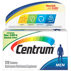 Centrum Multivitamin for Men, Multivitamin/Multimineral Supplement with Vitamin D3, B Vitamins and Antioxidants - 120 Count, USA