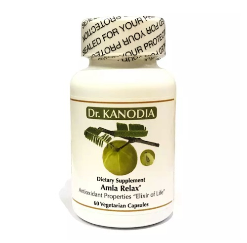 Dr. Kanodia Amla Relax, Detoxifies and nourishes the skin, making it look bright and youthful, 60 counts, USA