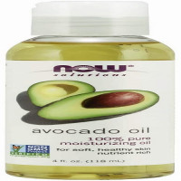 NOW Solutions Avocado Oil, 100% Pure Moisturizing Oil, Nutrient Rich and Hydrating, for Soft & Healthy skin, 118 ml, USA
