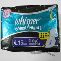 Whisper Maxi Night 15 pcs. (XL)